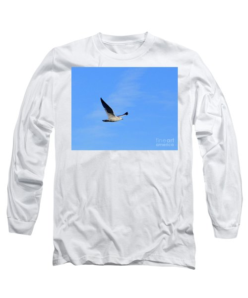 Seagull In Flight Long Sleeve T-Shirt