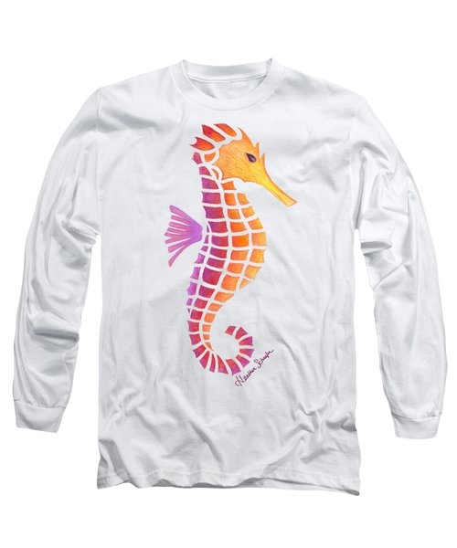 Seahorse Long Sleeve T-Shirt by Heather Schaefer
