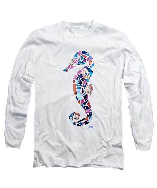 Seahorse Mosaic Cut Out Long Sleeve T-Shirt