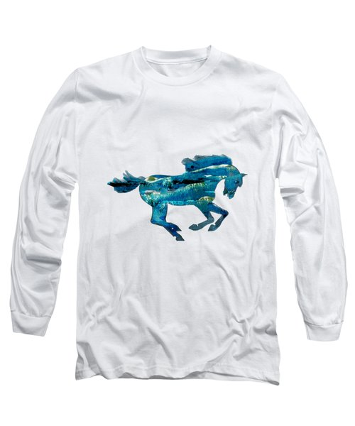 Seahorse By V.kelly Long Sleeve T-Shirt