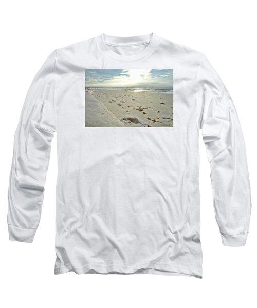 Long Sleeve T-Shirt featuring the photograph Seashells On The Seashore by Renee Hardison