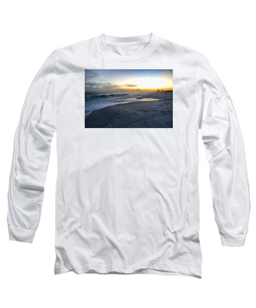 Long Sleeve T-Shirt featuring the photograph Seaside Sunset by Renee Hardison
