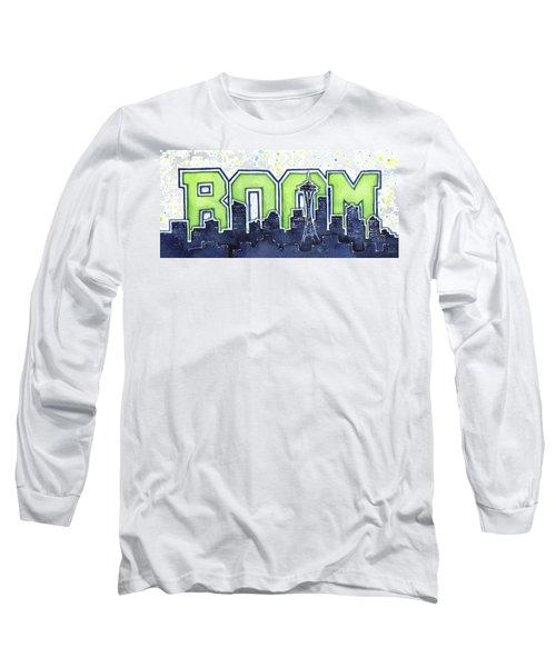 Seattle 12th Man Legion Of Boom Painting Long Sleeve T-Shirt