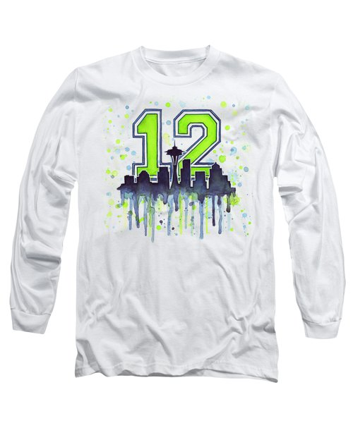 Seattle Seahawks 12th Man Art Long Sleeve T-Shirt