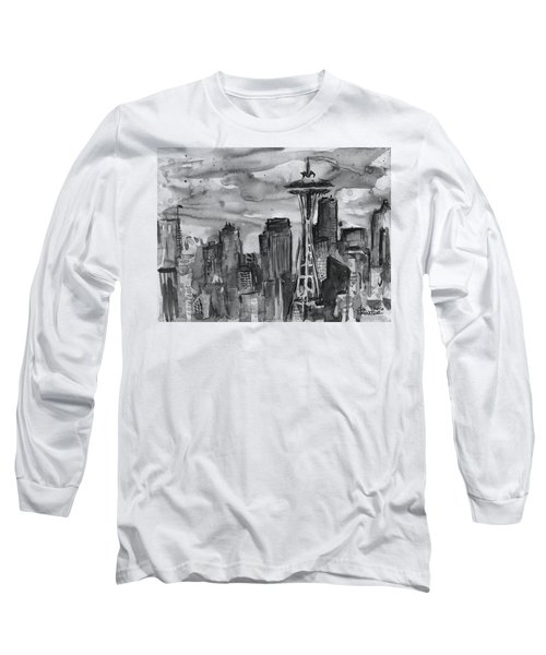 Seattle Skyline Space Needle Long Sleeve T-Shirt