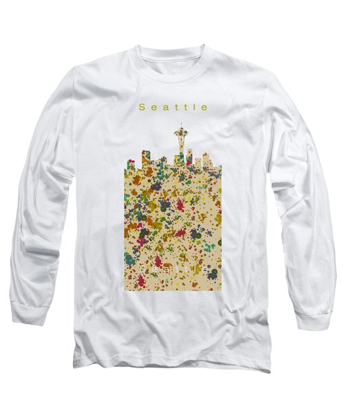 Seattle Skyline.2 Long Sleeve T-Shirt by Alberto RuiZ