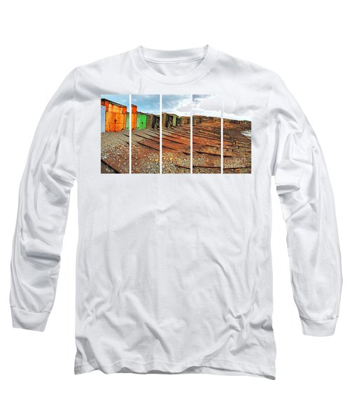Long Sleeve T-Shirt featuring the photograph Second Valley Boat Sheds by Stephen Mitchell