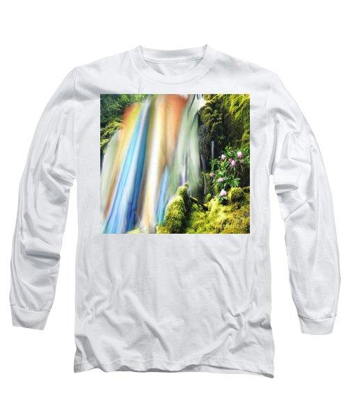 Secret Waterfall Of Life Long Sleeve T-Shirt by Belinda Threeths