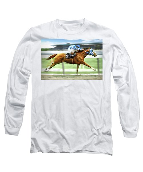 Secretariat On The Back Stretch At The Belmont Stakes Long Sleeve T-Shirt