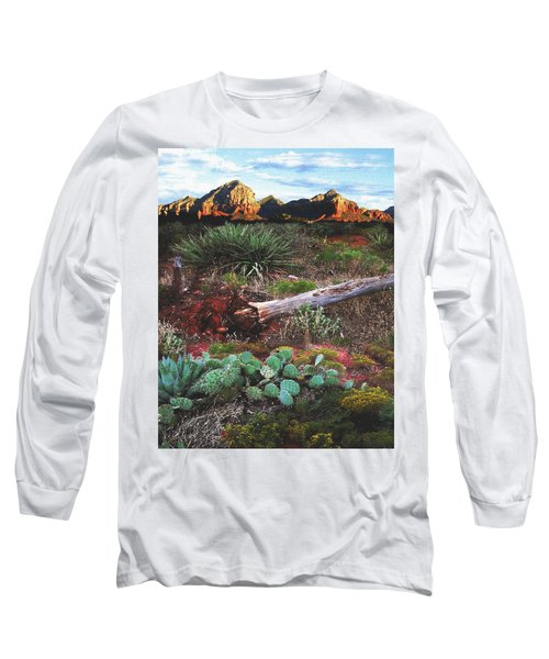 Sedona Mountain Sunrise Long Sleeve T-Shirt
