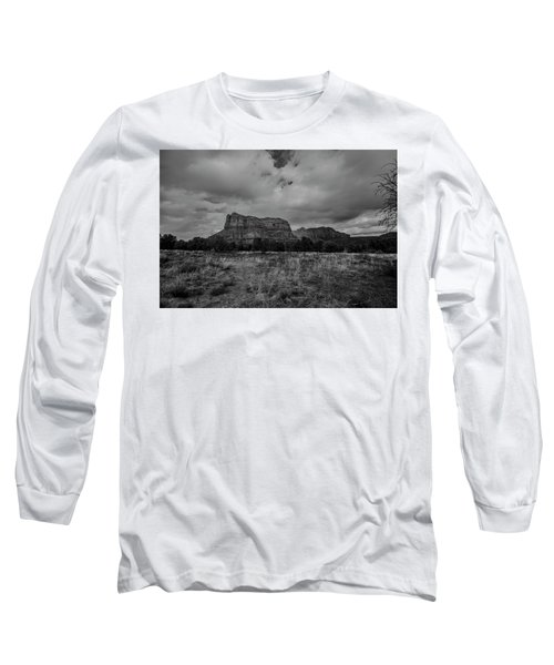 Sedona Red Rock Country Arizona Bnw 0177 Long Sleeve T-Shirt by David Haskett