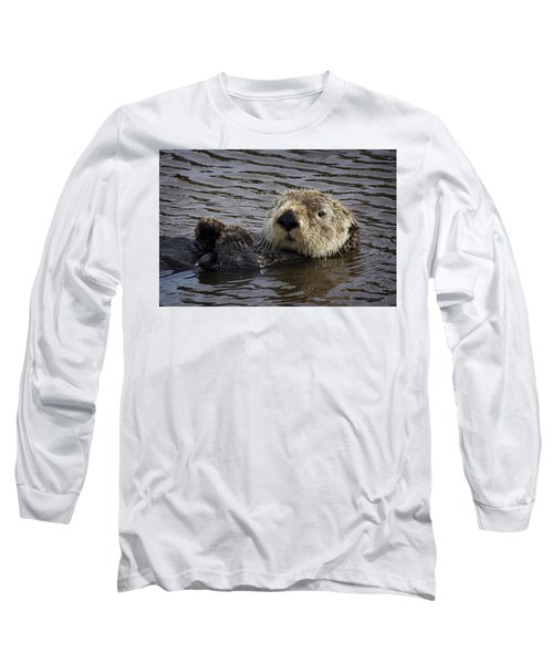 See Otter Posing Long Sleeve T-Shirt