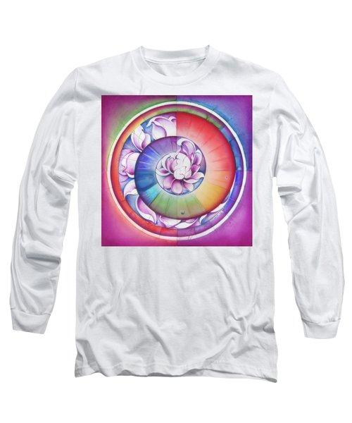 Seed Of Life - Mandala Of Divine Creation Long Sleeve T-Shirt by Anna Miarczynska