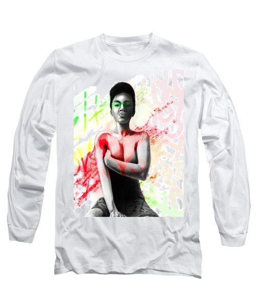 Long Sleeve T-Shirt featuring the digital art Self Love Xoxo by AC Williams