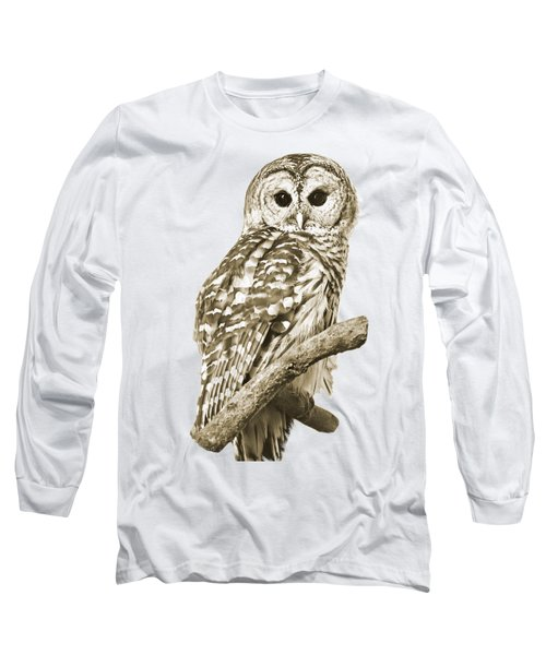 Sepia Owl Long Sleeve T-Shirt