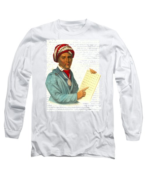 Long Sleeve T-Shirt featuring the photograph Sequoyah 1838 by Padre Art