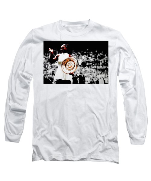 Serena 2016 Wimbledon Victory Long Sleeve T-Shirt by Brian Reaves