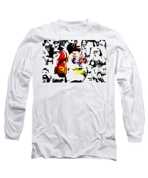 Serena Williams 2f Long Sleeve T-Shirt by Brian Reaves