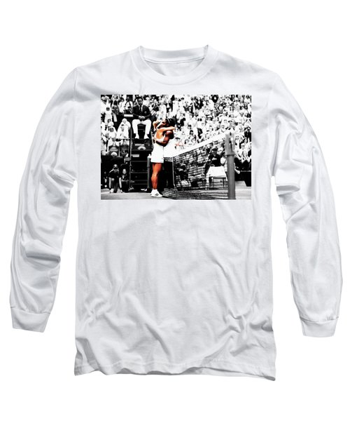 Serena Williams And Angelique Kerber 1a Long Sleeve T-Shirt by Brian Reaves
