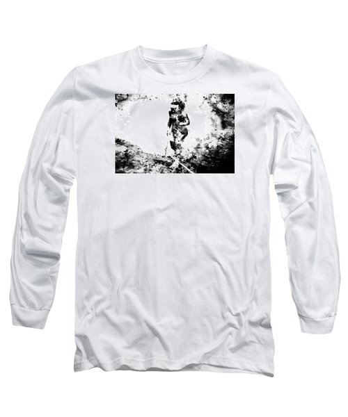 Serena Williams Dont Quit Long Sleeve T-Shirt by Brian Reaves