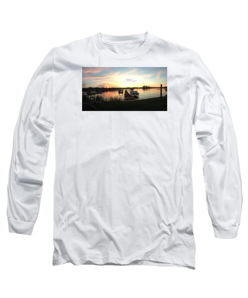 Long Sleeve T-Shirt featuring the photograph Serene Sunset by Rebecca Wood