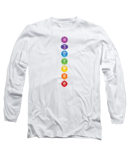 Seven Chakra Poster Art Long Sleeve T-Shirt