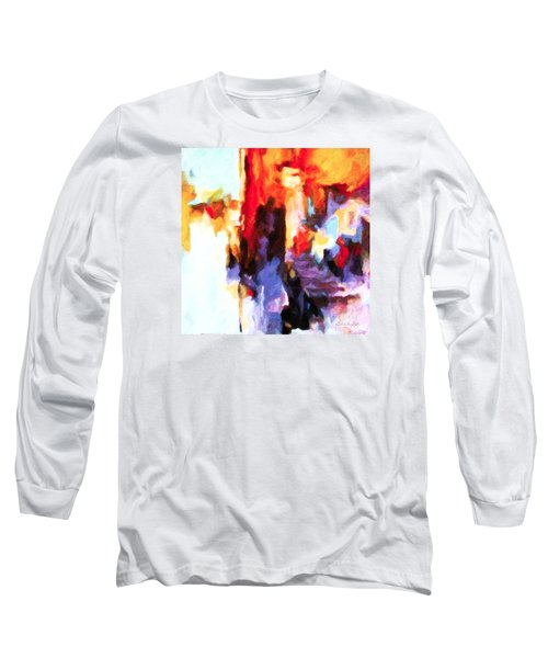 Long Sleeve T-Shirt featuring the painting Seven Steps by Chris Armytage