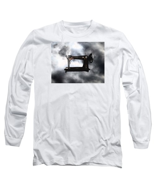 Sewing Gun Long Sleeve T-Shirt by Christopher Woods
