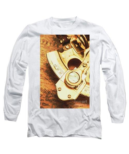 Sextant Sailing Navigation Tool Long Sleeve T-Shirt