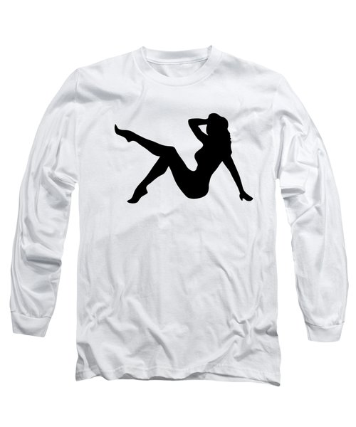 Sexy Trucker Girl Tee Long Sleeve T-Shirt
