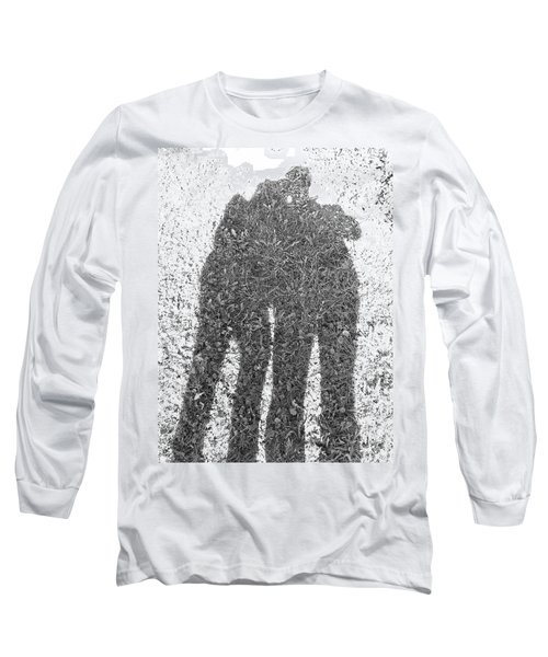 Long Sleeve T-Shirt featuring the photograph Shadow In The Meadow Bw by Wilhelm Hufnagl