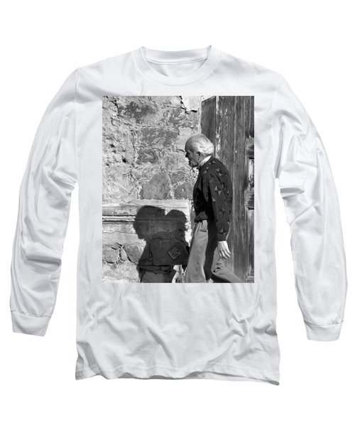 Long Sleeve T-Shirt featuring the photograph Shadow Of A Man by Jim Walls PhotoArtist