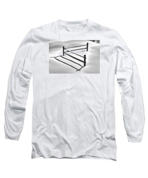 Shadows In The Snow - No. 1 Long Sleeve T-Shirt by Michael Mazaika