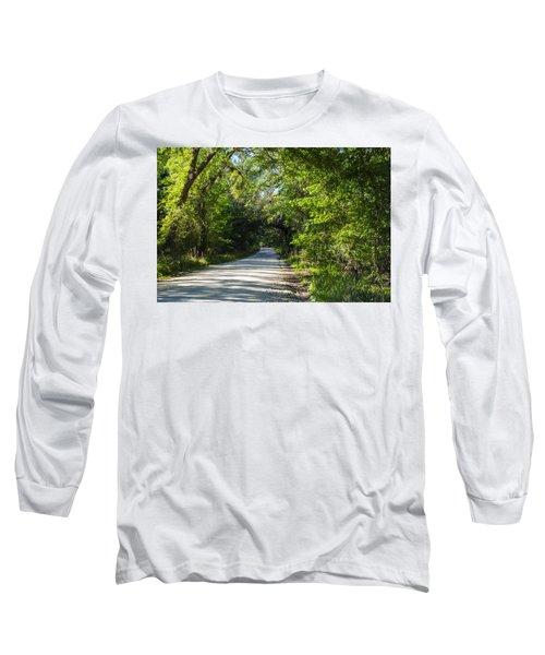 Long Sleeve T-Shirt featuring the photograph Shady Lane In Ocklawaha by Deborah Smolinske