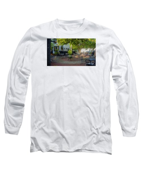 Shady Outdoor Dining Long Sleeve T-Shirt