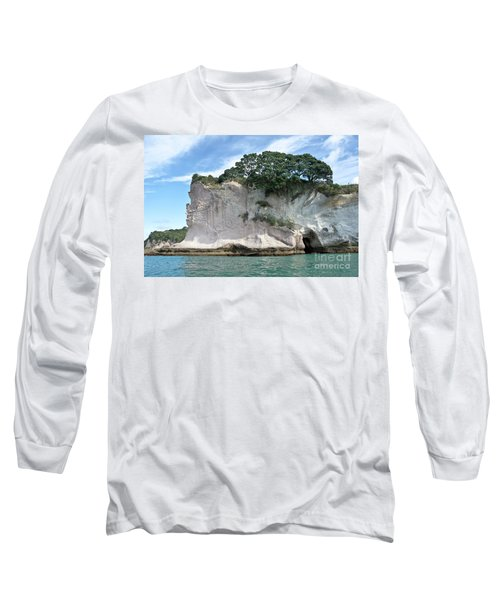 Long Sleeve T-Shirt featuring the photograph Shakespeare Rock, New Zealand by Yurix Sardinelly