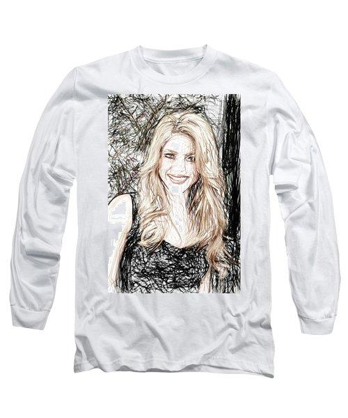 Shakira Long Sleeve T-Shirt by Raina Shah