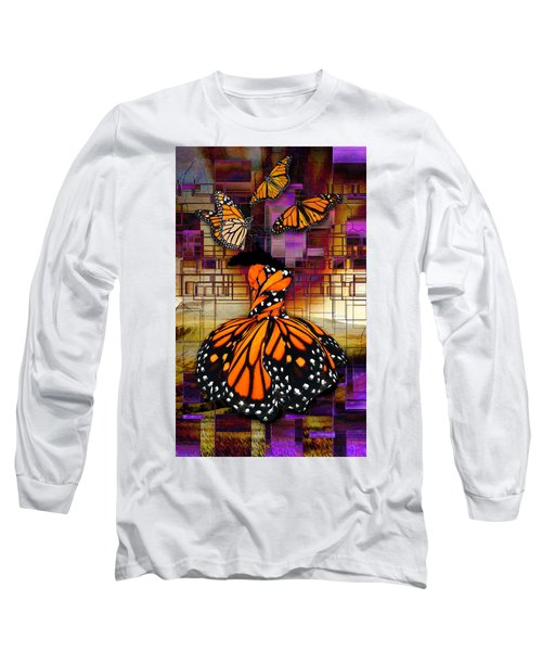 Long Sleeve T-Shirt featuring the mixed media Shape Shifting by Marvin Blaine