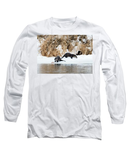 Sharing A Meal Long Sleeve T-Shirt by Mike Dawson