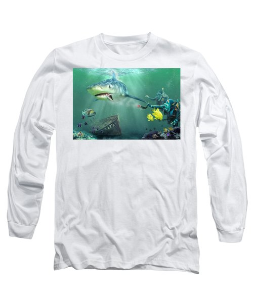Long Sleeve T-Shirt featuring the photograph Shark Bait by Don Olea
