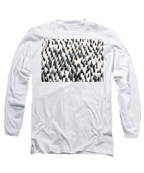 Sharp Wooden Pencils Long Sleeve T-Shirt by Evgeniy Lankin