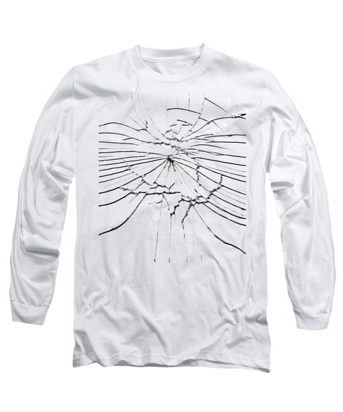 Long Sleeve T-Shirt featuring the photograph Shattered Glass - Cracks And Shards by Michal Boubin