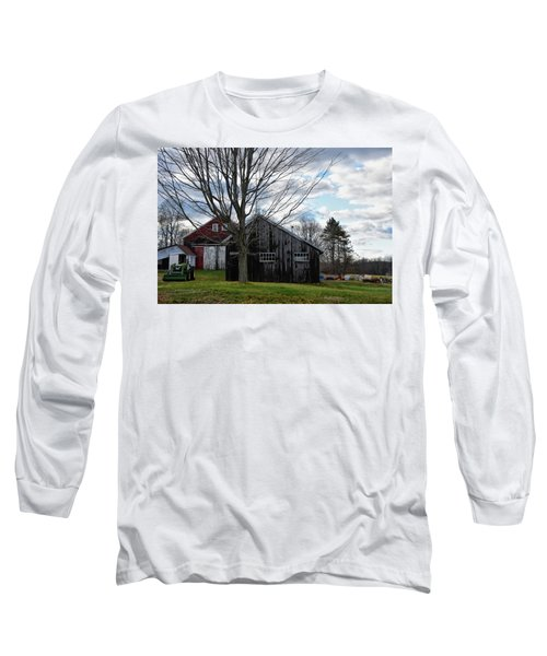 Shaw Hill Farm Long Sleeve T-Shirt by Tricia Marchlik