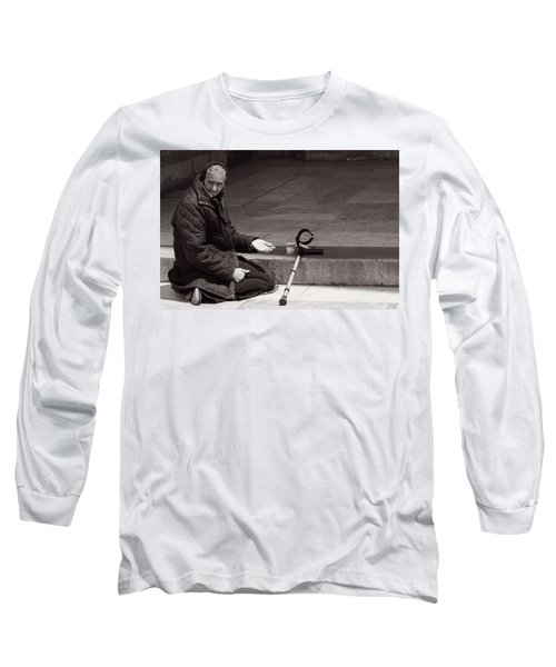 Long Sleeve T-Shirt featuring the photograph She Begs At The Cathedral by Lorraine Devon Wilke