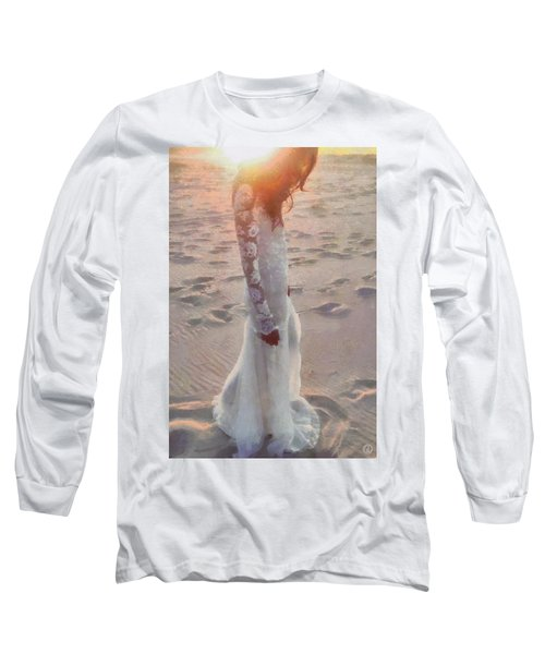 Long Sleeve T-Shirt featuring the digital art She Just Went Away by Gun Legler
