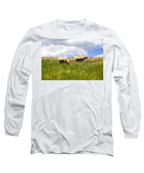 Sheep In New Zealand Long Sleeve T-Shirt