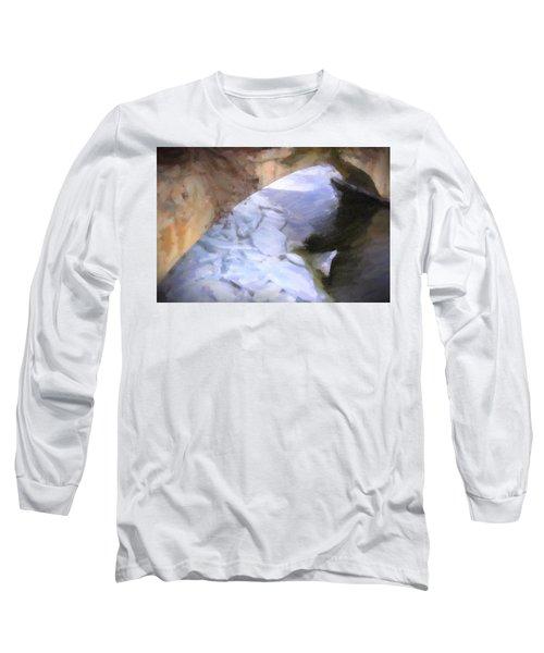 Shelburne Falls River Ice Long Sleeve T-Shirt by Tom Singleton