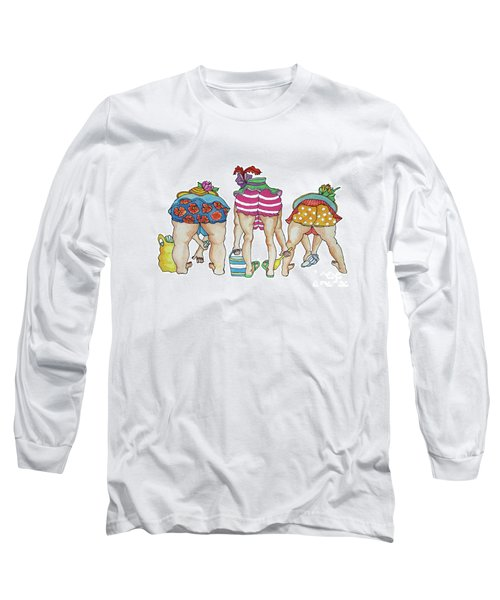 Long Sleeve T-Shirt featuring the painting Shelling Without Inhibition by Rosemary Aubut