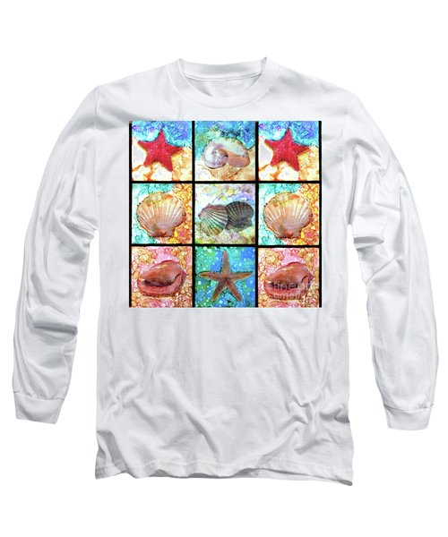 Shells X 9 Long Sleeve T-Shirt by Alene Sirott-Cope