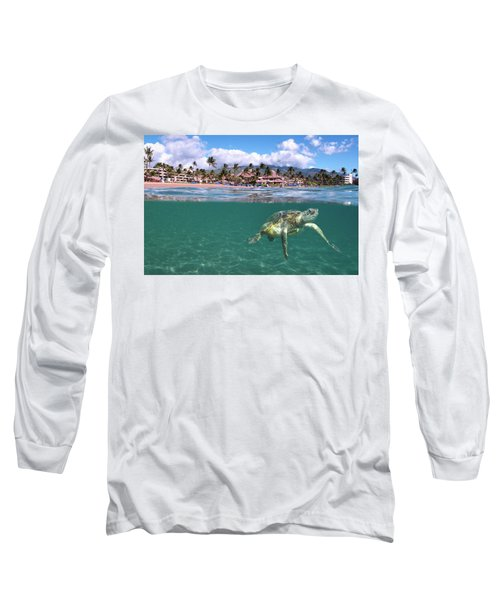 Sheraton Maui Long Sleeve T-Shirt by James Roemmling
